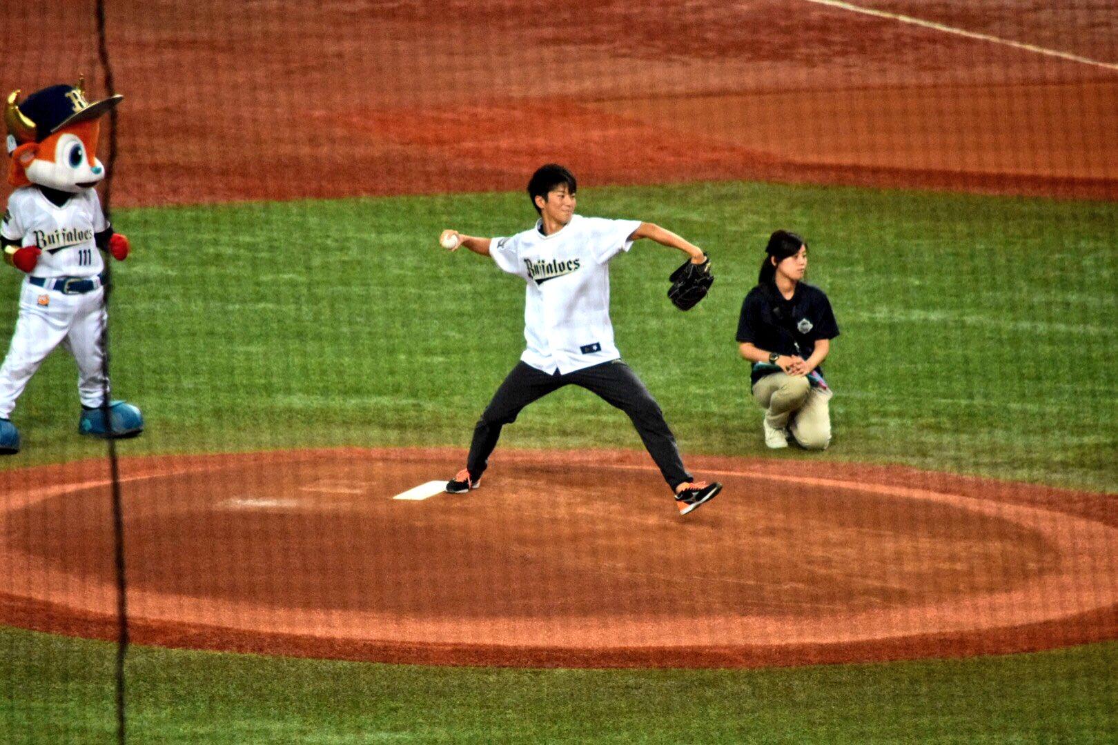 多田修平選手が始球式に登板!気になる結果は...
